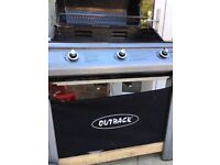 Outback 3 burner Barbecue for sale with cover