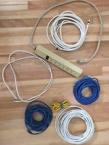 Fils réseaux, câble et multiprise