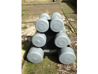 Dumbbell Set of 3 + stand (Collection Only)