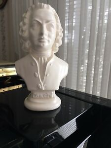 "JS Bach Bust 8"" plaster, Perfect condition"