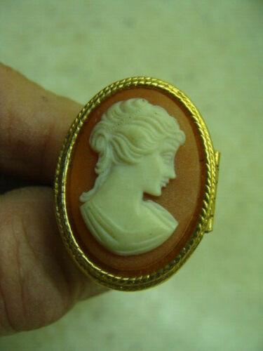Vintage Avon Cameo Locket Solid Perfume Ring