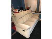 3 Seater Recliner Sofa plus Electric Recliner Chair For Sale, Excellent Condition