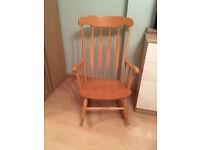 Beech Effect Rocking Chair