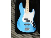 Superb Fender Bass with top upgrades --Lake Placid Blue