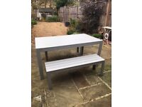 Garden table & bench seats