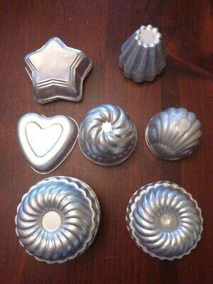 Lot of 25 Vintage Aluminum Jello Molds Fluted Star Swirl Heart Metal