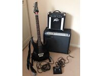 Ibanez RG Guitar, softcase , Laney Fusion TF200 amp and Peavey Companion amp