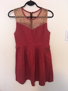 Pink Martini size medium  Red cocktail dress