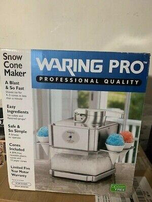 Brand New Waring Pro Snow Cone Maker