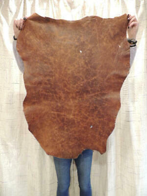 Waxy ANTIQUE Full Grain Leather Hide For Native Crafts Buckskin Purses Journals - $20.25