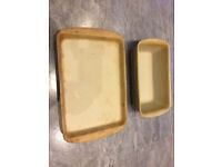 Pampered Chef bar pan and loaf tin