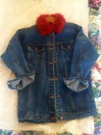 Asos slightly oversized denim jacket in size 6, perfect condition