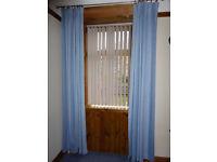 Long Blue Curtains
