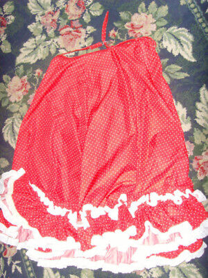 Halloween or Christmas Costume Mrs. Santa Claus skirt Rockabilly red womens L XL - Santa Skirt Costume