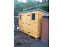 12ft x 6ft Wooden Garden Shed