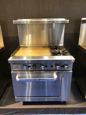 New 36 Range W 24 Griddle 2 Burners 1 Full Oven Stove Lp Gas Free Liftgate