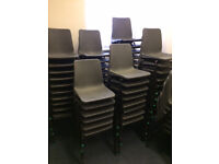 Plastic Polypropylene Canteen stacking chairs