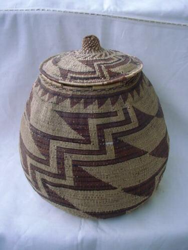 Large Hupa Basket with Lid