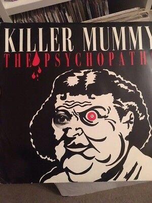 "The Psychopaths – Killer Mummy 12"" Vinyl 1991 Old Skool Hardcore Elicit Records"