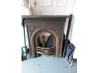 Victorian/Edwardian cast iron fireplace stripped ready for any finish.