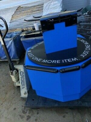 Carousel Bag Holder Blue Bagging Checkout Area Commercial Bagger Store Fixtures