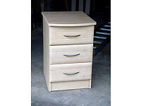 Bedside cabinet with 3 drawers