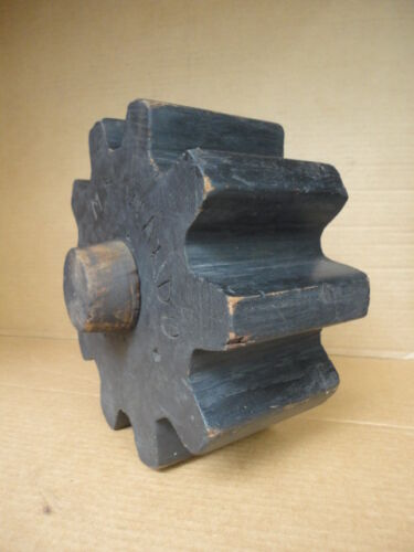 Wood Mold Foundry Pattern Antique Industrial Machinery Wooden Gear Cog Wheel