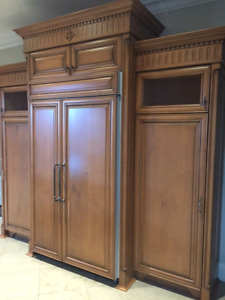 Custom Solid Maple Kitchen & laundry room cabinets for sale!