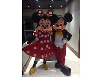 Disneyland Quality Lookalike Minnie and Mickey Mascots for hire