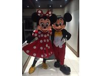 Disneyland Quality Minnie and Mickey Mascots for hire