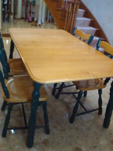 Dining table and chairs - nice set