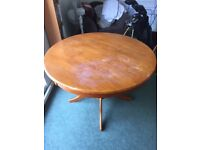 Round Solid Wooden Dining Table - free for collection