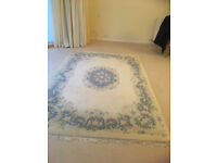 Beautiful Cream rug with pastel coloured pattern