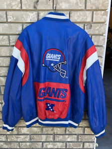 NFL NEW YORK GIANTS LEATHER JACKET