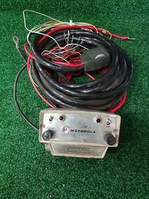 Motorola Motrac Vhf Uhf Vintage Control Head With Remote Cable Rare Find A-14