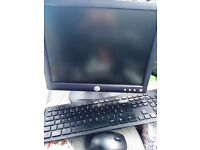 Computer Monitor, Wifi Keyboard and Mouse Excellent Condition