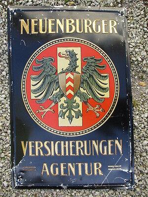 NEUENBURGER VERSICHERUNGEN AGENTUR geprägtes Blechschild