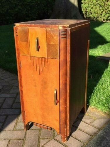 Vintage 1930s Art Deco Style End Table / Side Table Night Stand