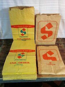 Plusieurs Sacs d'épicerie en papier Steinberg