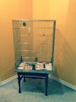 Bird cage and stand- SPPUP