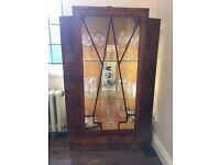 Art Deco Display Cabinet with Glass and Lights