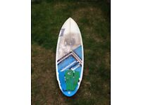 Black and White Puffin Surfboard - 5'10""