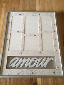 """Amour"" photo frame"
