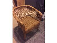 Child's wicker chair