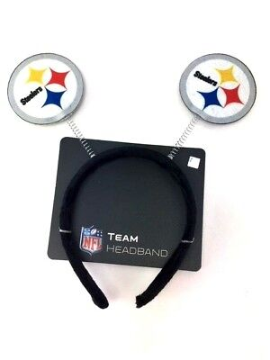 Steelers Party Decorations (Pittsburgh Steelers Springy Logo Antennas Headband NFL Football Party)