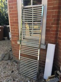 heated towel rail - duel fuel - can be used with central heating or electric