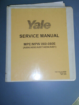 Yale Service Manual 524164529 Mpempw 060-080e Electric Lift Truck Forklift
