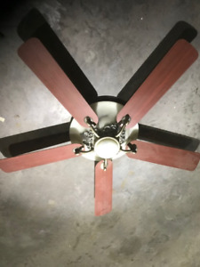 Hampton Bay Large Classic Ceiling Fan with remote,  like new