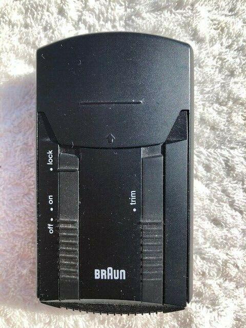 BRAUN Pocket de Luxe Typ 5525 Rasierer Batterie Rasierer 1991 schwarz gebraucht
