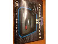 Sega Megadrive II Games console. Console with two controllers.